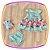 Vestido infantil com Aplique de Pedras e Barra da Saia Estampa de Flores - Imagem 1