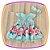 Vestido infantil com Aplique de Pedras e Barra da Saia Estampa de Flores - Imagem 3