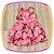 Vestido infantil  Estampa de Flores e Aplique de Flor no Ombro  - Imagem 2
