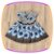 Vestido infantil Estampa Preta e Flores Azuis - Imagem 3