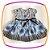 Vestido infantil Estampa Preta e Flores Azuis  - Imagem 1