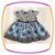 Vestido infantil Estampa Preta e Flores Azuis  - Imagem 2