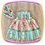 Vestido infantil Listrado e Saia Estampa de Castelo - Imagem 3