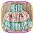 Vestido infantil Listrado e Saia Estampa de Castelo - Imagem 2