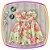 Vestido infantil Estampa Flores Rosas e Brancas - Imagem 3