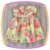 Vestido infantil Estampa Flores Rosas e Brancas - Imagem 1