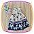 Vestido infantil Poá e Estampa de Praia na Barra - Imagem 1