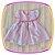 Vestido infantil Listrado Cinza e Rosa - Imagem 2