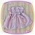 Vestido infantil Listrado Cinza e Rosa - Imagem 3