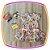 Vestido infantil Estampa Corações Coloridos - Imagem 1