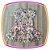 Vestido infantil Estampa Corações Coloridos - Imagem 2