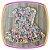 Vestido infantil Estampa Corações Coloridos - Imagem 3