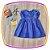 Vestido infantil Corpo em Nervura e Poá - Imagem 1