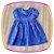Vestido infantil Corpo em Nervura e Poá - Imagem 2