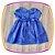 Vestido infantil Corpo em Nervura e Poá - Imagem 3
