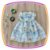 Vestido infantil Estampa de Margaridas Brancas - Imagem 1