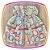 Vestido infantil Estampas Moinho, Torre Eiffel e Bicicletas - Imagem 3