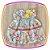 Vestido infantil Estampas Moinho, Torre Eiffel e Bicicletas - Imagem 2