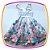 Vestido infantil Corpo Listrado e Saia com Estampa de Chá e Cup Cake - Imagem 4