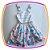Vestido infantil Corpo Listrado e Saia com Estampa de Chá e Cup Cake - Imagem 1