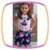 Conjunto infantil Blusa Estampa Menina e Saia Estampa Flores Rosas  - Imagem 1