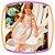 Vestido infantil com Pregas na Saia e Estampa de Coroa  - Imagem 2