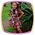 Vestido infantil Estampa Rosas e Saia em Babados - Imagem 1