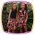 Vestido infantil Corpo Liso e Saia com Estampa de Rosas  - Imagem 2