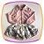 Conjunto infantil camisa em body e saia floral  - Imagem 1