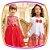 Vestido Vermelho com estampa de flores  - Imagem 2