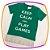 Camiseta infantil Meia Malha Keep Calm Verde - Imagem 1