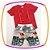 Connjunto infantil Camiseta e Bermuda em Nylon Estampada Geometrica Cinza - Imagem 3