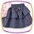 Body Manga Curta Balone  Floral com saia jeans em babado - Imagem 3