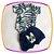 Body Manga Curta  estampa flores e shorts  marinho estampa DOG - Imagem 1