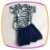 Body Manga Curta  estampa flores e shorts  marinho estampa DOG - Imagem 2