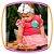 Body Suedine regata estampa polvo e saia em tule rosa e pom pom  - Imagem 2