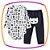 Body para bebê em suedine manga longa - super herói e calça bordada preta - Imagem 1