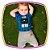 Macacão para bebê curto em suedine heróis com estampa neon - Imagem 2