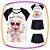 Conjunto infantil Blusa em Viscolycra Estampa Urso de óculos e Shorts Saia em fly tech  - Imagem 1