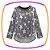 Conjunto infantil Blusão em tricot estrelas e legging em fly tech  - Imagem 2