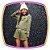 Conjunto infantil Blusão Boxy Rosto e shorts em moletton glitter - Imagem 4