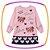 Vestido infantil em Fly tech e viscose Urso cor Rosê - Imagem 1