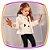 Conjunto para bebê Blusa em Cotton Poa preto e calça em molecotton - Imagem 4