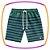 Conjunto infantil camiseta meia malha SUMMER azul marinho e bermuda em nylon listrada  - Imagem 3
