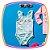 Maiô para bebê em malha com proteção UV DRY na cor verde estampa rostinho e poá - Imagem 3