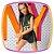 Conjunto infantil blusa boxy com gorro e shorts em moleton preto e neon - Imagem 6