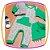 Macacão para bebê em suedine manga longa estampa DINOSSAURO e bandana - Imagem 2