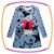 Vestido infantil em Fly Tech na cor cinza estampa Urso - Imagem 1