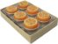 Vela Aromática com 6 unidades (Laranja) - Imagem 1