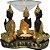 Porta Velas e Difusor Rechaud Três Budas com Prato de Vidro - Imagem 1